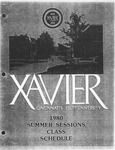 1980 Xavier University Summer Sessions Class Schedule