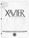 1981 Xavier University Summer Sessions Class Schedule Course Catalog