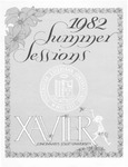 1982 Xavier University Summer Sessions Class Schedule Course Catalog by Xavier University, Cincinnati, OH