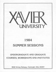 1984 Xavier University Summer Sessions Class Schedule Course Catalog