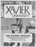 1986 Xavier University Summer Sessions Class Schedule Course Catalog