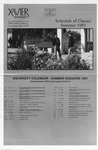 1991 Xavier University Summer Sessions Class Schedule Course Catalog