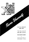1960-1961 Xavier University College of Arts and Sciences, Graduate School Course Catalog