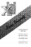 1961-1962 Xavier University College of Arts and Sciences, Graduate School Course Catalog