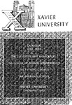 1963-1964 Xavier University College of Arts and Sciences, College of Business Administration, Evening College, Graduate School Course Catalog