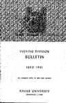 1960-1961 Xavier University Evening Division Bulletin Course Catalog