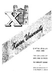 1959-1960 Xavier University The College of Arts and Sciences, The Graduate School Course Catalog by Xavier University, Cincinnati, OH