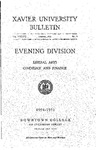 1954-1955 Xavier University Evening Division Bulletin Liberal Arts, Commerce and Finance Course Catalog