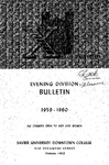 1959-1960 Xavier University Evening Division Bulletin Course Catalog