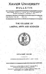 1930-1931 Xavier University College of Liberal Arts and Sciences Course Catalog by Xavier University, Cincinnati, OH
