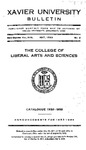 1932-1933 Xavier University College of Liberal Arts and Sciences Course Catalog