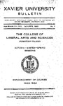 1932-1933 Pt. 2 Xavier University College of Liberal Arts and Sciences Course Catalog by Xavier University, Cincinnati, OH