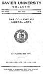 1943-1944 Xavier University College of Liberal Arts Course Catalog
