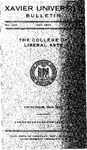 1944-1945 Xavier University College of Liberal Arts Course Catalog