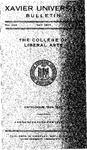 1944-1945 Xavier University College of Liberal Arts Course Catalog by Xavier University, Cincinnati, OH