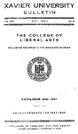 1946-1947 Xavier University College of Liberal Arts and Graduate Division Course Catalog