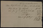 Bill from Moses Dawson to Dr. Henry B. Funk