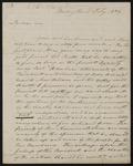 William Berkeley Lewis letter to Moses Dawson
