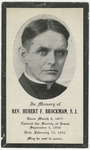 Hubert Brockman memorial holy card