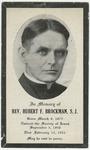 Hubert Brockman memorial holy card