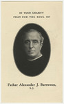 Alexander Burrowes memorial holy card