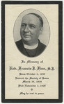 Francis J. (Francis James) Finn memorial holy card