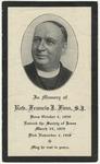 Francis J. (Francis James) Finn memorial holy card