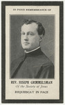 Joseph Grimmelsman memorial holy card