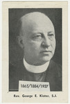 George Kister memorial holy card