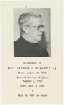 Arthur Madgett memorial holy card