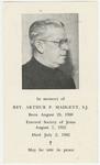 Arthur Madgett memorial holy card