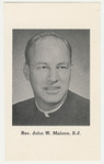 John Malone memorial holy card