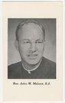John Malone memorial holy card