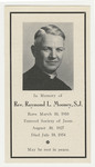 Raymond Mooney memorial holy card