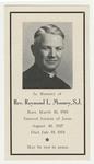 Raymond Mooney memorial holy card