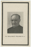 William Poland memorial holy card