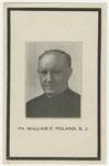 William Poland memorial holy card