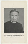 Victor Stechschulte memorial holy card