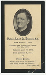 Albert Dierckes memorial holy card