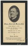 Albert Dierckes memorial holy card