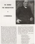 He Named the Musketeer - A Memorial by Xavier University - Cincinnati