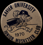 Junior Musketeer Club button by Xavier University (Cincinnati, Ohio)